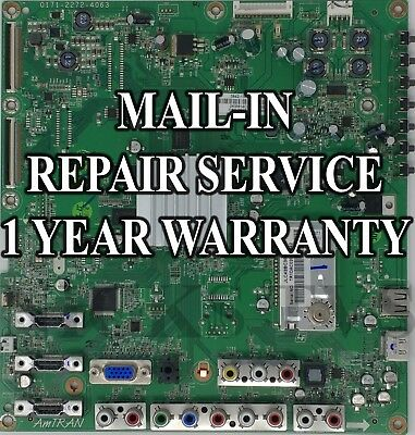 Mail-in Repair Service For JVC JLE42BC3001 Main Board 1 YEAR WARRANTY