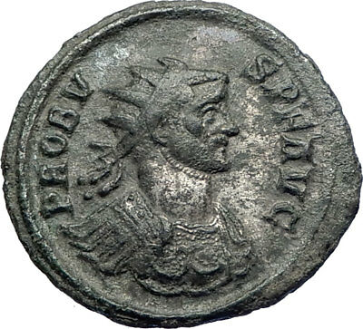 PROBUS 276AD Authentic Genuine Silvered Ancient Roman Coin Fides Trust i73674