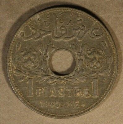 1940 Syria Piastre Dull Uncirculated Appearance        ** FREE U.S. SHIPPING **