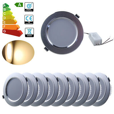 10x 12W LED Recessed Ceiling Light Downlight Wall Lamp Spotlight Driver Kit