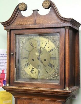 Antique Oak Grandfather Longcase Clock Richard Rayment Bury St Edmunds Suffolk