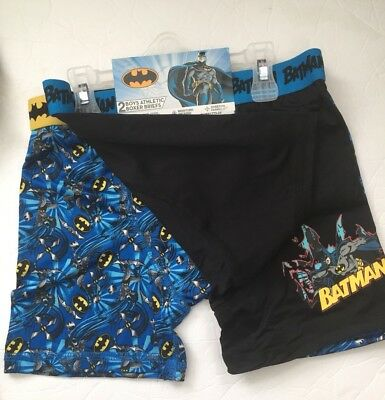 2 PAIR Boys Athletic Boxer Briefs. Batman Movie DC Comics. SZ 10