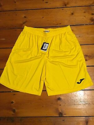 JOMA mens yellow football shorts , size Large / NEW WITH TAGS