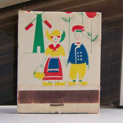 Rare Vintage Matchbook S3 Jaffrey New Mexico Made Windmill Flowers People Color