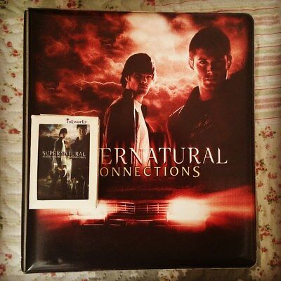 Supernatural official binder s 1 + 35 trading cards connection + set season 1