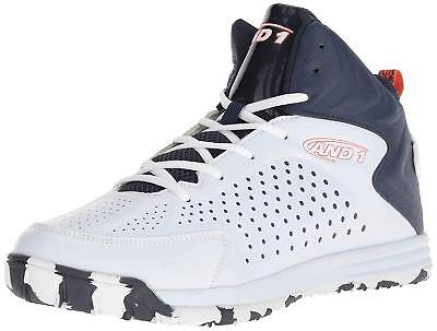 AND1 D3037MWOD: Men's Tipoff White/Peacoat/Flame Athletic Sneaker