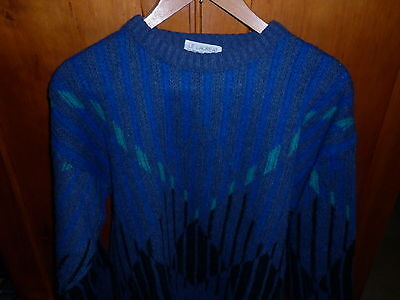VINTAGE FRENCH 1980s LARGE MENS FUNKY JUMPER EXCELLENT CONDITION