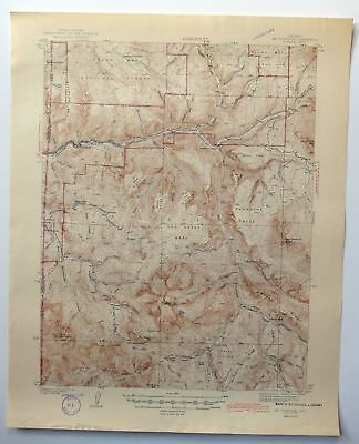 1945 Mount Gunnison Colorado Somerset Vintage 15-minute USGS Topo Map