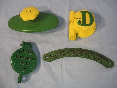 Lot of 4 John Deere Collectible Tractor Parts