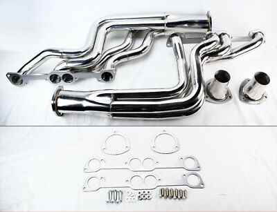 Performance Long Tube Headers for Pontiac GTO 1964-1972 389 400 455 Round Port