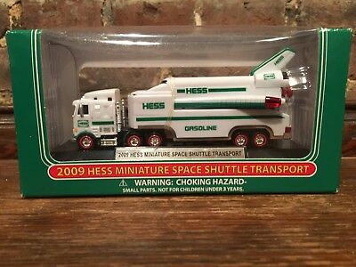 2009 Hess Truck Miniature Space Shuttle Transport - New in Box Stamped 0312