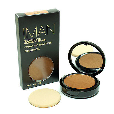 IMAN FOND DE TEINT ILLUMINATEUR SECOND TO NONE EARTH 3 , 10g MARQUE USA  ZZZ