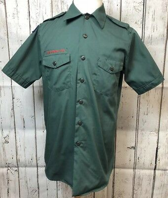 Vintage Army Green Boy Scouts of America Official Shirt #190