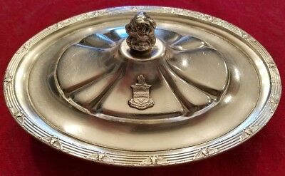 The Steven Hotel Chicago IL Silver Lidded Bowl - Circa 1946 - Nice Shape!