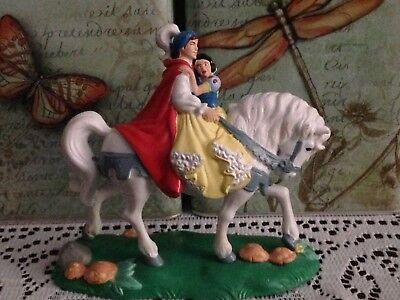 Snow White Prince Charming on White Horse Collectible Special Edition Figurine