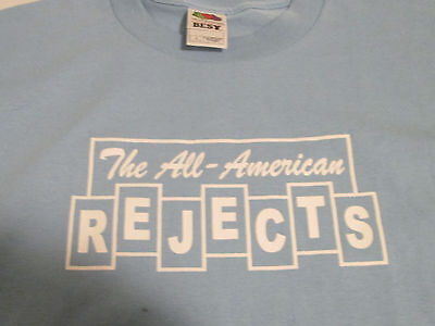 ALL AMERICAN REJECTS VINTAGE NEW TEE T-SHIRT HEAVY METAL  large
