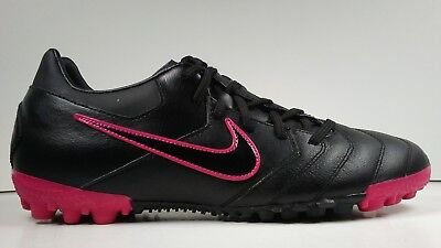 Nike Mens Rare Nike5 Bomba TF PRO 415119-006 Black Pink Soccer Shoes Size 11
