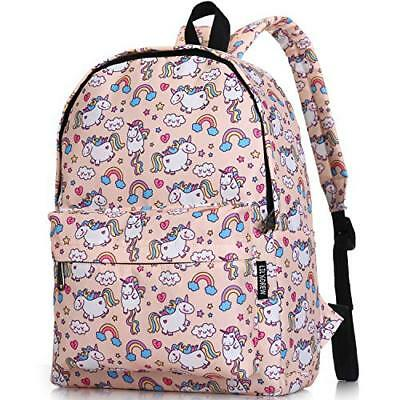 Lightweight Travel School Backpack for Women (Medium|Unicorn Ivory Medium)
