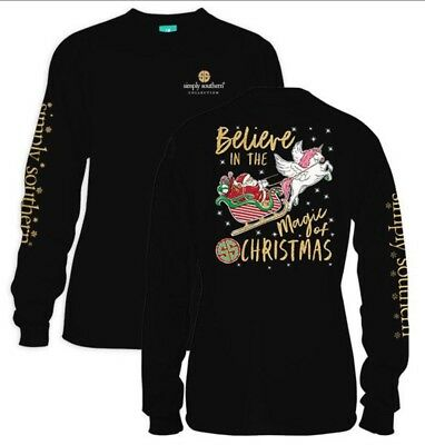 Simply Southern T shirt  Believe in the magic of Christmas Womens size Small