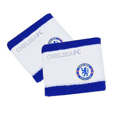Chelsea FC Official 2 Tone Football Crest Sport Wristbands (Pack Of 2) (SG3456)