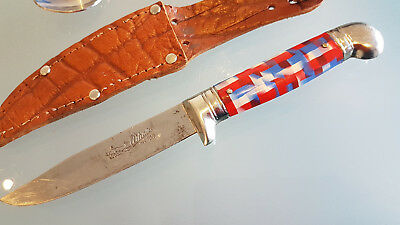 VINTAGE TOY HUNTING KNIFE WITH SHEATH. GERMAN MADE, (c1950s) IN GREAT CONDITION.