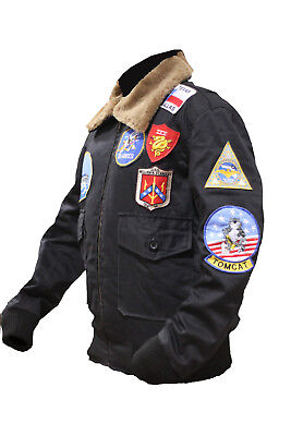 Tom Cruise Top Gun Black Bomber Cotton Jacket - Worldwide Shipping