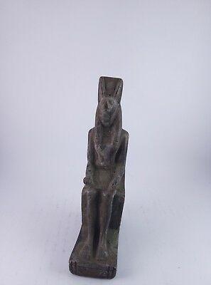 ANCIENT EGYPTIAN ANTIQUE EGYPT God Anubis Statue Stone 1500 Bc