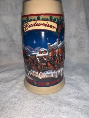 2003 Budweiser Holiday Beer Stein- Old Towne Holiday  (CS560)  (BS #2)
