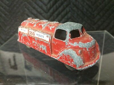 Vintage Cast Metal Oil Tanker, No. 13, London toy Made in Canada ESSO products