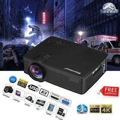 Excelvan Mini proyector LED Projector 1080P Full HD 3000 Lumens HDMI USB USB AV