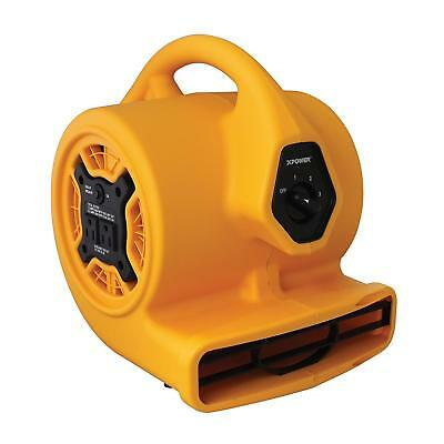 Xpower P-130A Mini Mighty Air Mover, Utility Fan, Dryer, Blower With Build-In Po