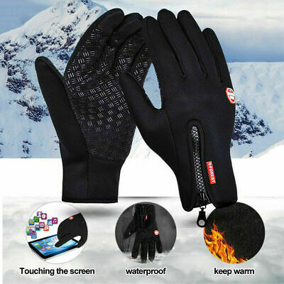 Winter Cycling Ski Outdoor Gloves Touch Screen Waterproof Warm Men/ Women Gloves