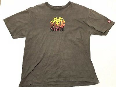 RARE Element Skateboards Vintage T Shirt Mens Large Logo Spell Out Gray  Cotton 0b07d918759