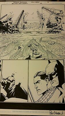 Batman & Robin #29 Page 9 Art With Mick Gray Inks Over Patrick Gleason Blue...