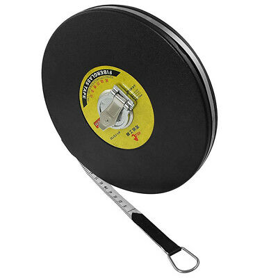 1X(HOLD Double Side Metric Retractable Figerglass Tape Measure Ruler 50M x B7F2