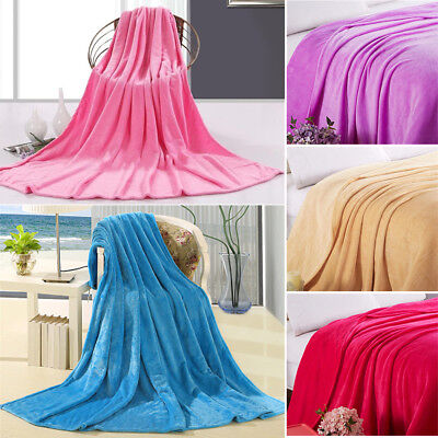 70*100cm Flannel Blanket Soft Warmer Throw Sofa Bed Cover Winter Warm Mat Pad