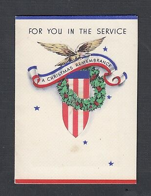 Usa 1943 Wwii Christmas Card Photo & Prexie Soldier'S Cover Syracuse New York