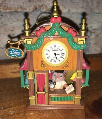 ENESCO CHRISTMAS ORNAMENT: IT'S TIME FOR CHRISTMAS! MOUSE in CLOCK SHOP