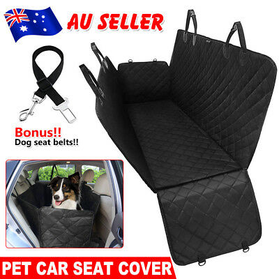 Nonslip Pet Car Back Seat Cover Cat Dog Waterproof Protector Zipper Hammock Mat