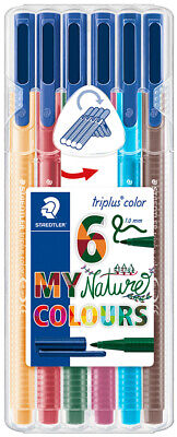 "STAEDTLER Fasermaler triplus color ""MY nature COLOURS"" 6er"