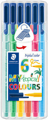 "STAEDTLER Fasermaler triplus color ""MY tropical COLOURS"" 6er"