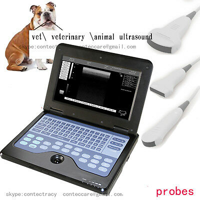 CONTEC CMS600P2 Vet Ultrasould Laptop Scanner Machine Cat,Dog,horse,vet Probe,CE