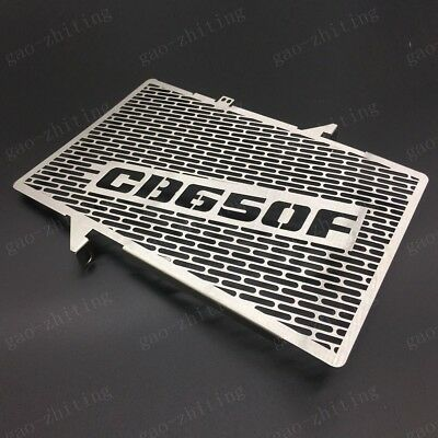 Silver Motorcycle Radiator Grill Grille Guard Cover For Honda CB650F 2014-2018