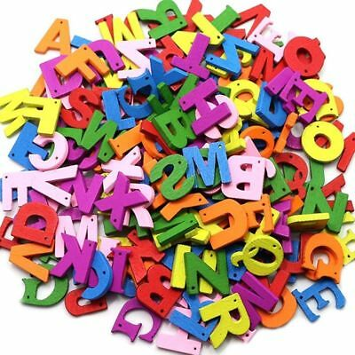 100Pcs Colorful Wooden Letter Alphabet Montessori Educational Toy Faddish