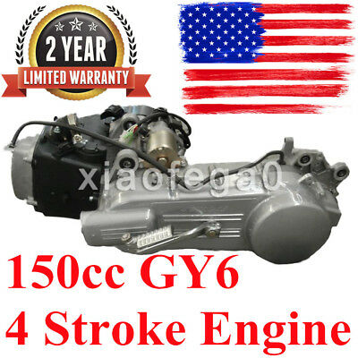 150CC GY6 SCOOTER ATV Go Kart Engine Motor 150 CVT Short Case 4 Stroke  Engine US