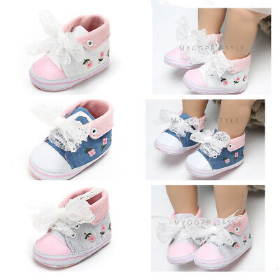 Gift for Baby Girl Pram Shoes Infant Booties Child High Top Pre Walker Trainers