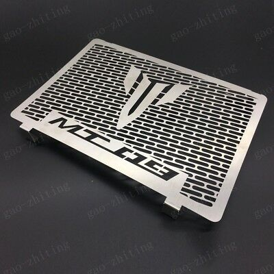 Silver Motorcycle Radiator Grill Grille Guard Cover For Yamaha MT-09 2013-2018
