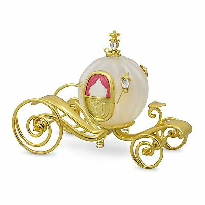2017 Hallmark Ornament Cinderella's Gold Carriage - Glass and Metal - Lid Wear