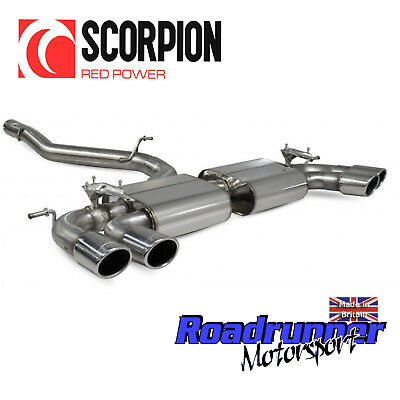 Scorpion Golf R MK7.5 Exhaust Cat Back VALVED 80mm Non Resonated Ovals SVWS054