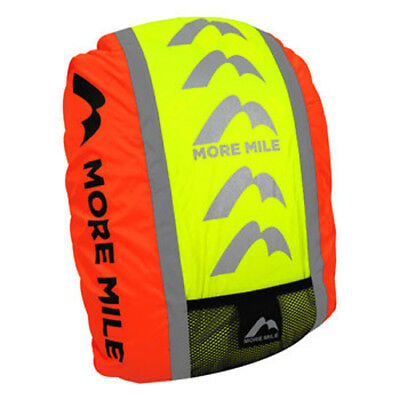 More Mile High Viz Safety Backpack Cover Reflective Waterproof Cycling Bike Ride